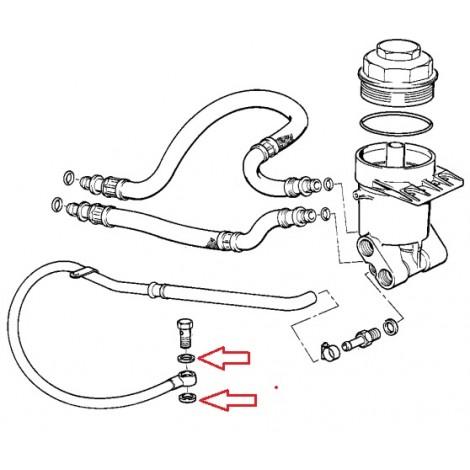 Anneau d'etancheite de durite d'huile E21/E30/E28/E39/E38 BMW