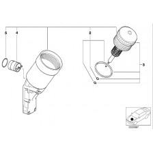 Support de filtre à huile E36/E46/Z3 essence BMW
